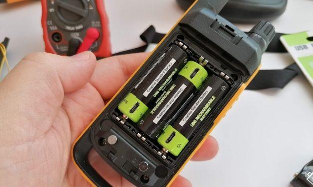 Znter Li-po AA méretű tölthető áramforrás.