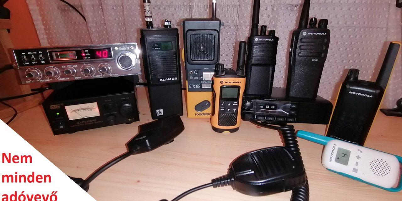 Nem minden adóvevő CB rádió!