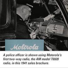 1930 – 1939: A Motorola korai rendőrségi rádiói