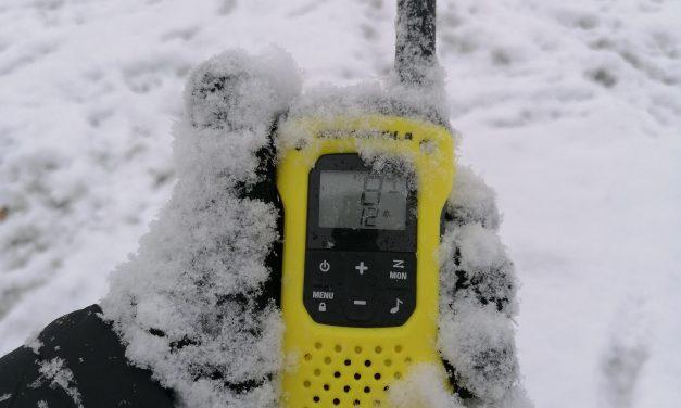 PMR 1×1 Walkie talkie használat hóban, hidegben.