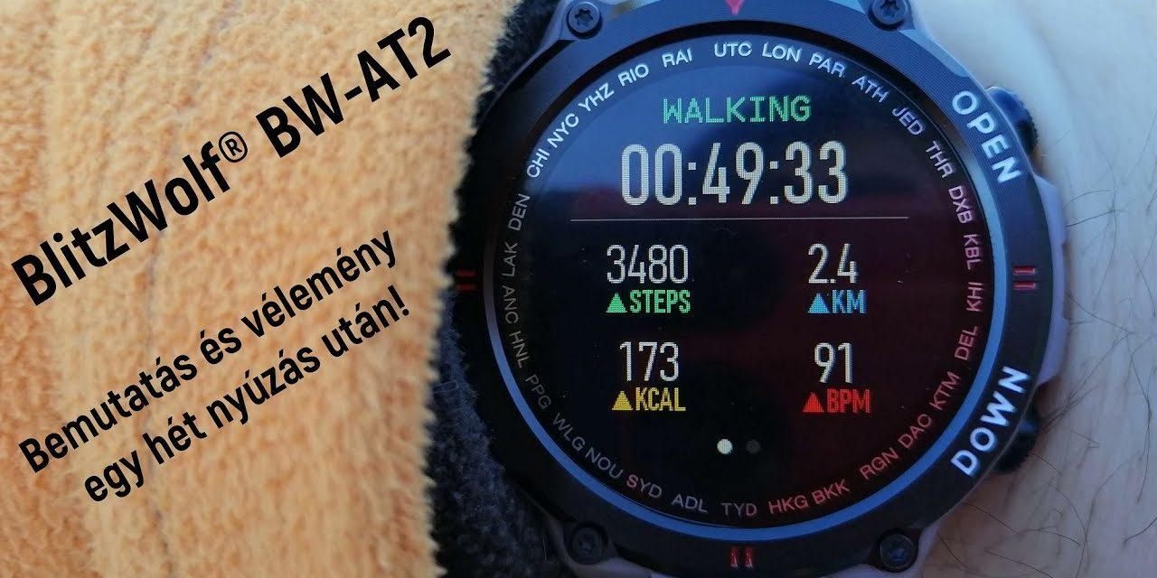 BlitzWolf® BW-AT2 Aktivitás mérő bemutató és vélemény 1 hét használat után.